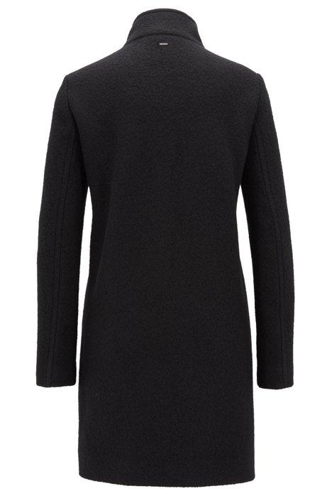 BOSS OHSANDY Manteau Regular Fit en laine vierge avec fermeture à boutons