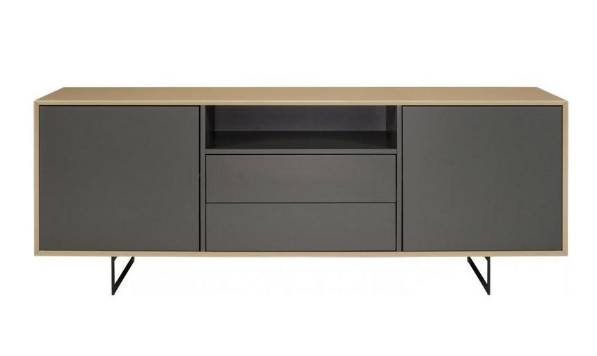 Matteo Meuble TV Design 200 cm Gris Habitat