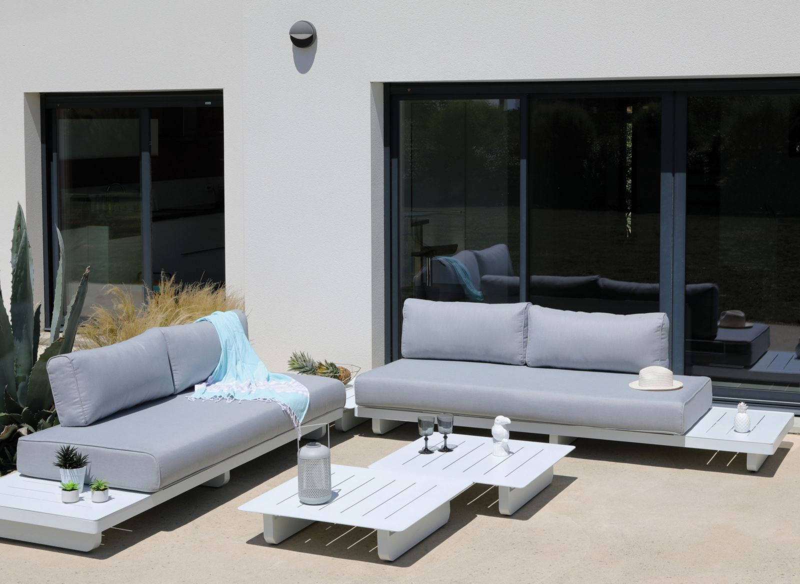Table de Jardin en Aluminium Sur Iziva - Iziva.com