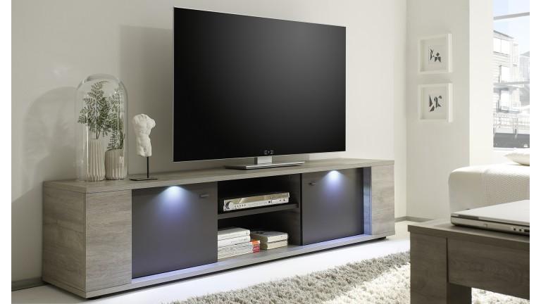 Meuble Tv 2 Portes Avec éclairage Shepparton Meuble Tv Mobilier