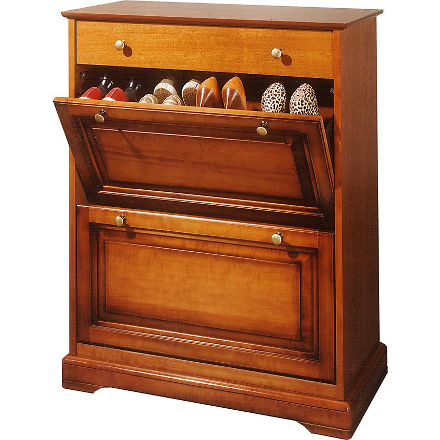 armoire vestiaire range chaussures 4 portes home affaire bois naturel meuble chaussures 3. Black Bedroom Furniture Sets. Home Design Ideas