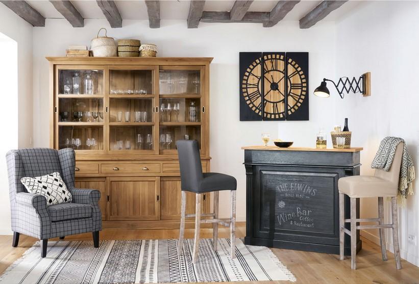 Meuble de bar GERMAIN gris charbon - Maisons du Monde