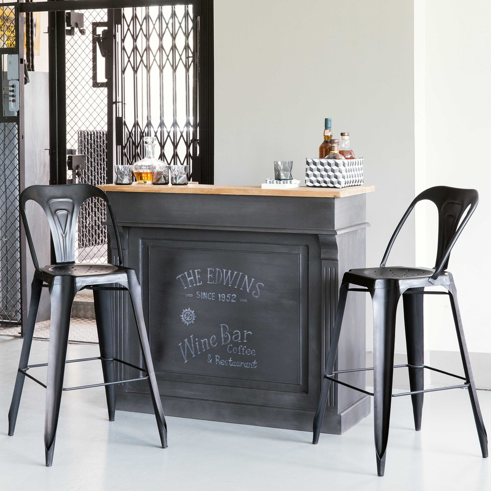 meuble de bar germain gris charbon bar maisons du monde maisons du monde meuble de bar germain gris charbon meuble de bar germain gris charbon pas cher