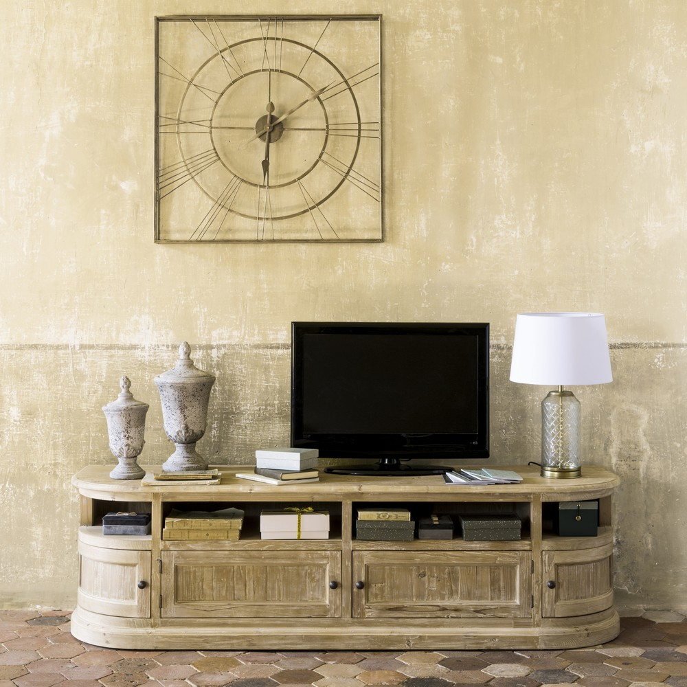 Meuble Tv 4 Portes Flaubert En Pin Recycle Meuble Tv Maisons Du