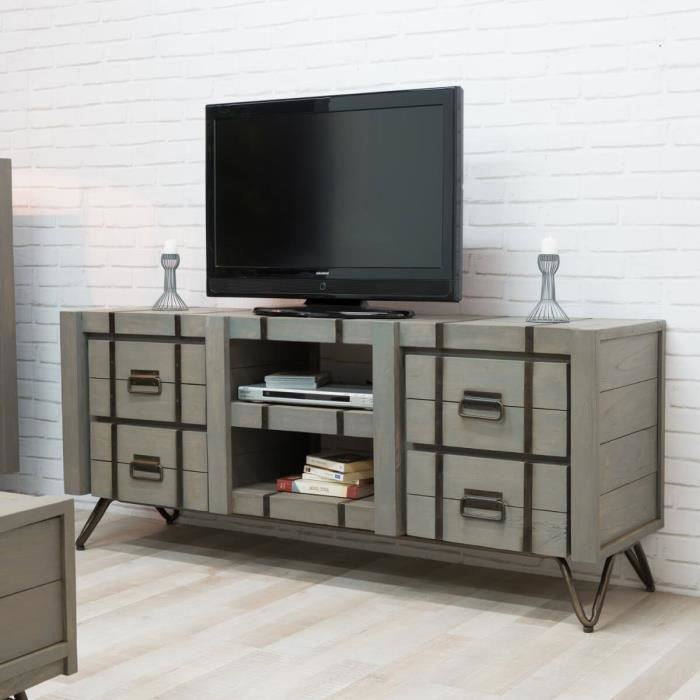 meuble tv la redoute meuble tv nottingham prix 244 30 euros. Black Bedroom Furniture Sets. Home Design Ideas