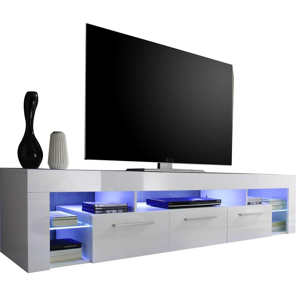 Meuble Tv Design C Lauzier Avec éclairage Led Pas Cher