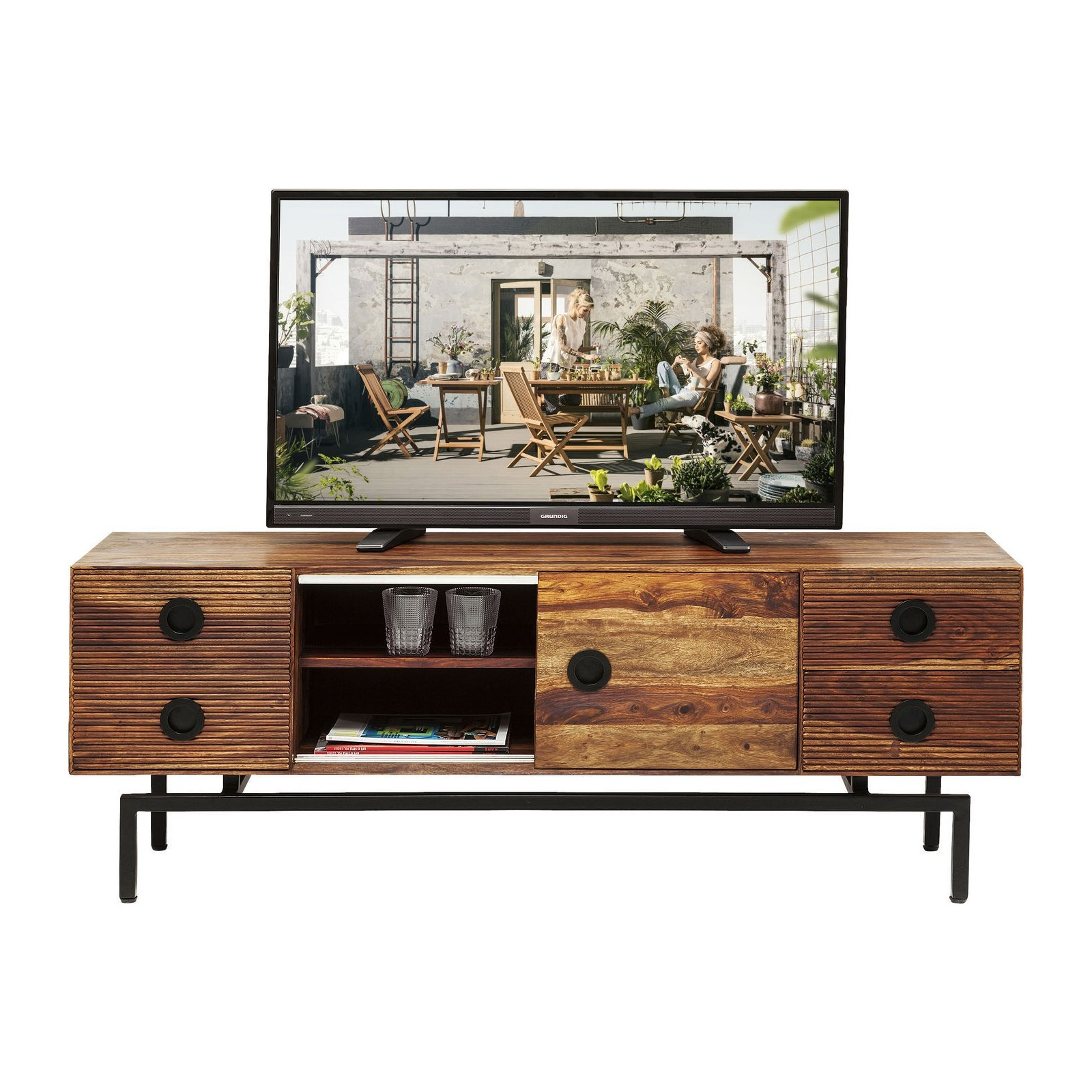 meuble tv carrefour meuble tv jack blanc. Black Bedroom Furniture Sets. Home Design Ideas