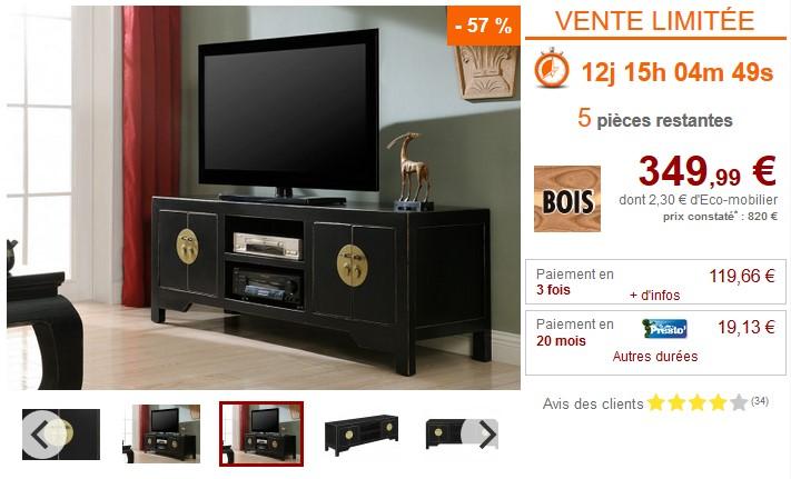 Meuble Tv Foshan 4 Portes Bois D Orme Pas Cher Meuble Tv Vente Unique