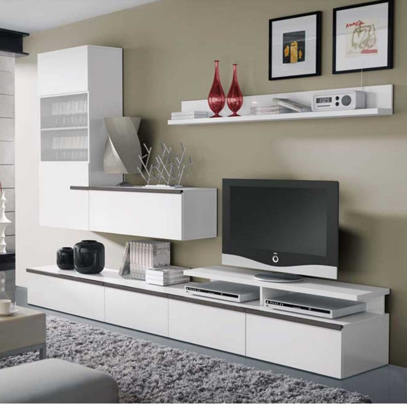 soldes meuble tv mural design socotra atylia. Black Bedroom Furniture Sets. Home Design Ideas