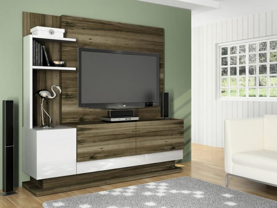 Soldes Meuble Tv Vente Unique - Mur TV KANSAS avec rangements ...