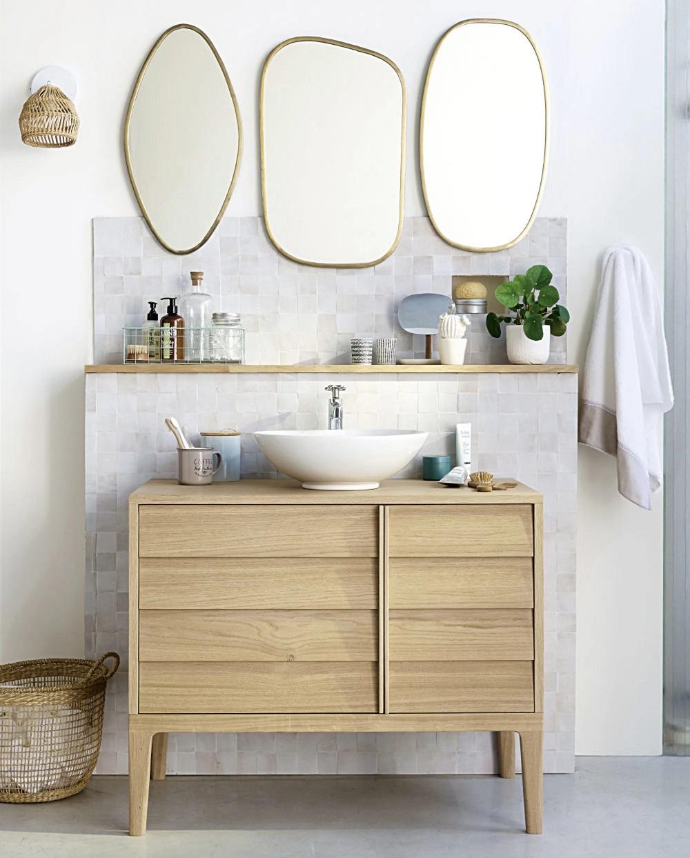 Meuble Sous Lavabo Maison Du Monde meuble vasque 2 portes sand - meuble de salle de bain
