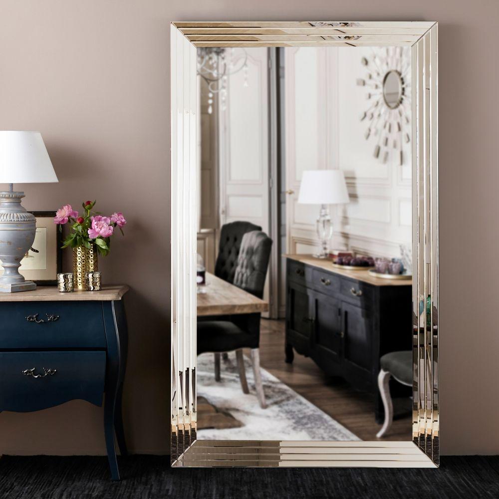 Miroir Maison Du Monde Industriel miroir biseauté argenté firenze - miroir maisons du monde