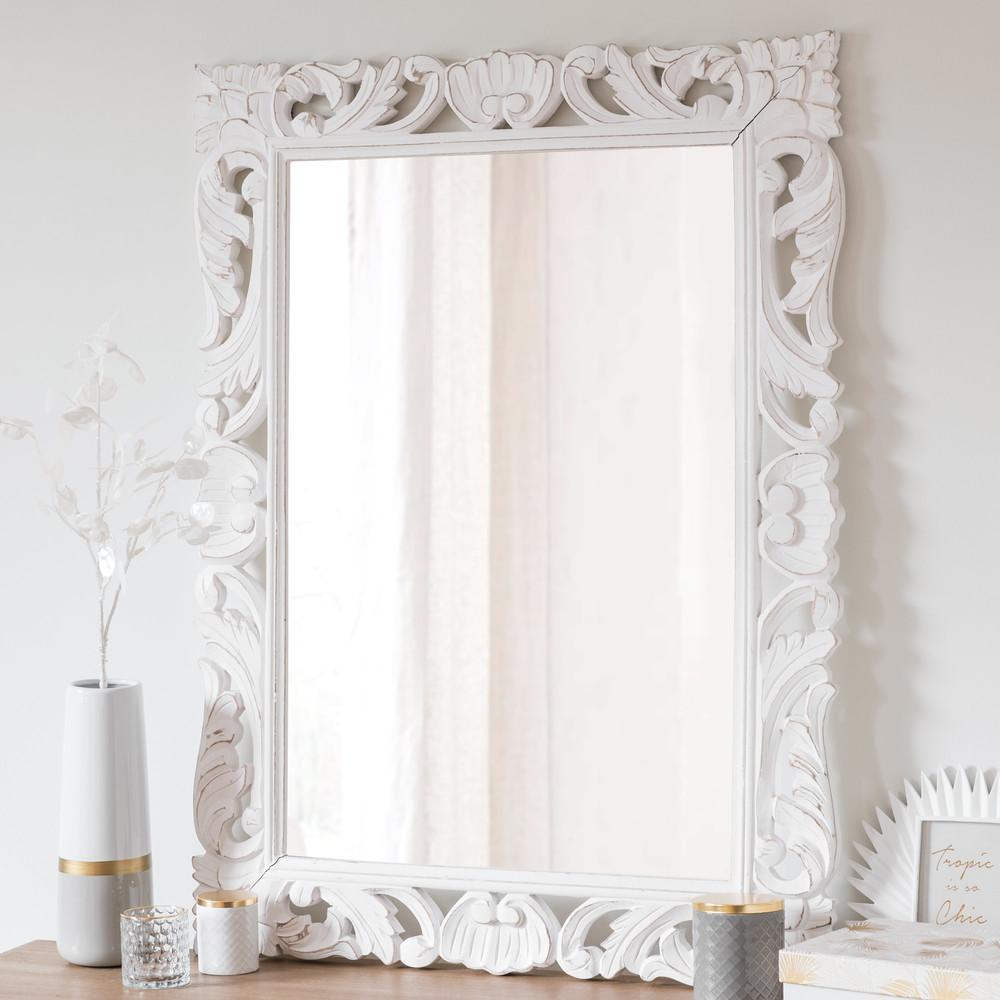 Miroir en manguier blanc Andawala   Miroir Maisons du Monde