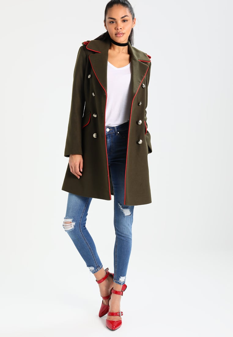 Miss Selfridge MILITARY Manteau classique dark green