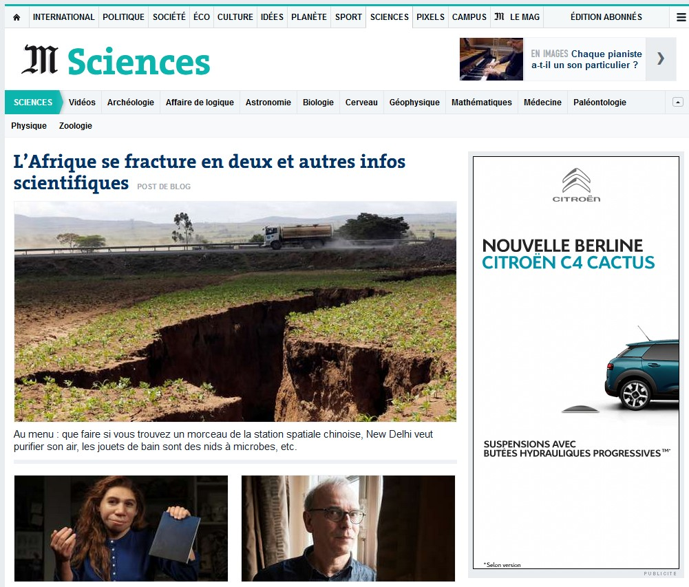 Sciences Le Monde.fr