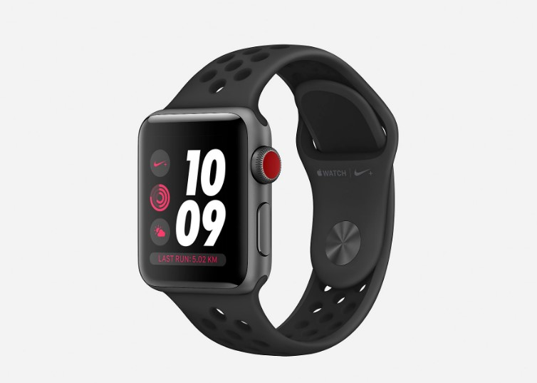 competitive price e5e21 09098 Montre de running Apple Watch Nike + Series 3 (GPS + Cellular) 38 mm -  Montres Nike  (Mode)  Nike Store France Montre de running Apple Watch Nike  + Series 3 ...