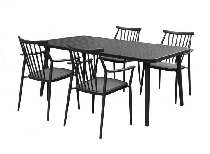 Table de jardin NATERIAL Niagara rectangulaire 6/8 personnes - Table ...