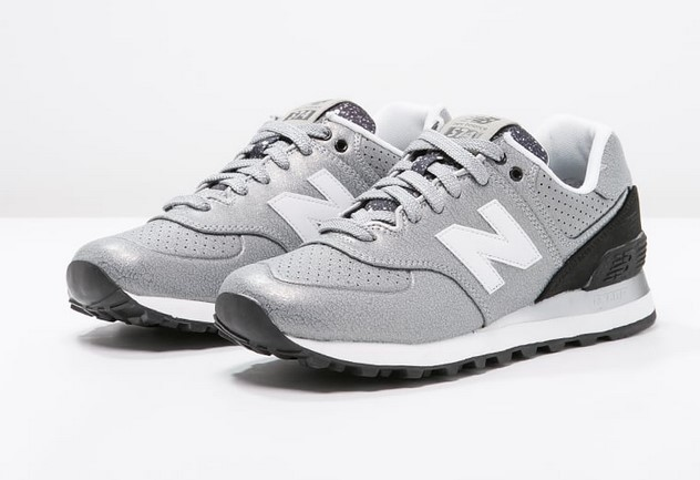 New Balance WL574 Baskets basses silver/black - Baskets Femme ...