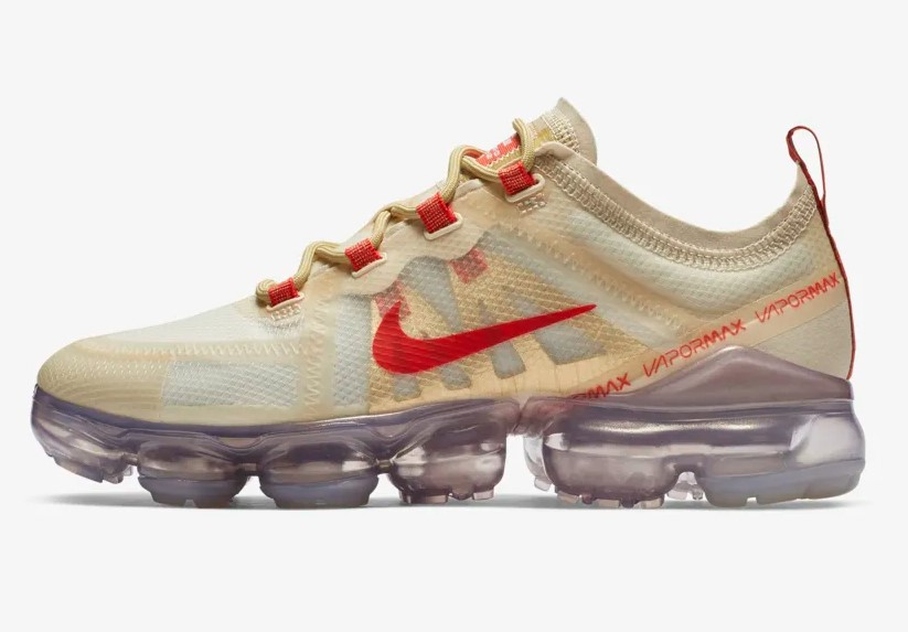 Nike Air VaporMax 2019 CNY Crème clair/Or club/Or métallique/Rouge Habaner