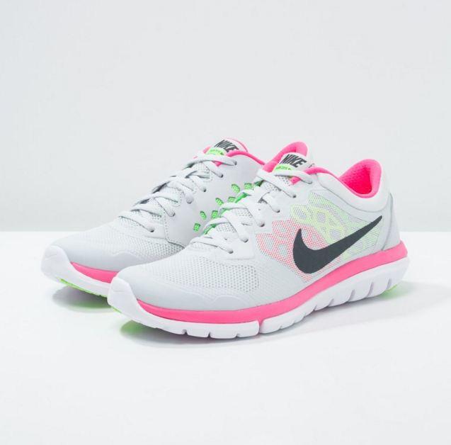finest selection 320cf f65b4 39. Nike Performance FLEX RUN 2015 Chaussures de running légères pure  platinum metallic hematite voltage green hyper pink - Zalando  (Mode)   Zalando Nike ...