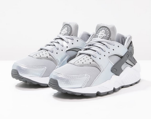 Nike Sportswear AIR HUARACHE RUN Baskets basses wolf grey dark grey ... ec2f9bb1efd4