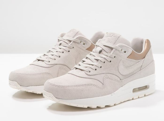 los angeles c127e 7152c Nike Sportswear AIR MAX 1 PREMIUM Baskets basses gamma grey metallic golden  tan, Baskets Femme Zalando