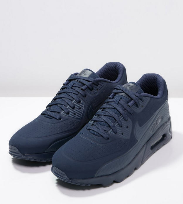 Nike Sportswear AIR MAX 90 ULTRA MOIRE Baskets basses midnight navy/white, Baskets Homme zalando