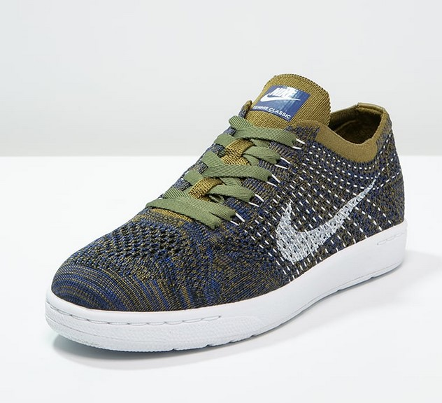 Nike Sportswear TENNIS CLASSIC ULTRA FLYKNIT Baskets basses olive flak/white/deep royal blue