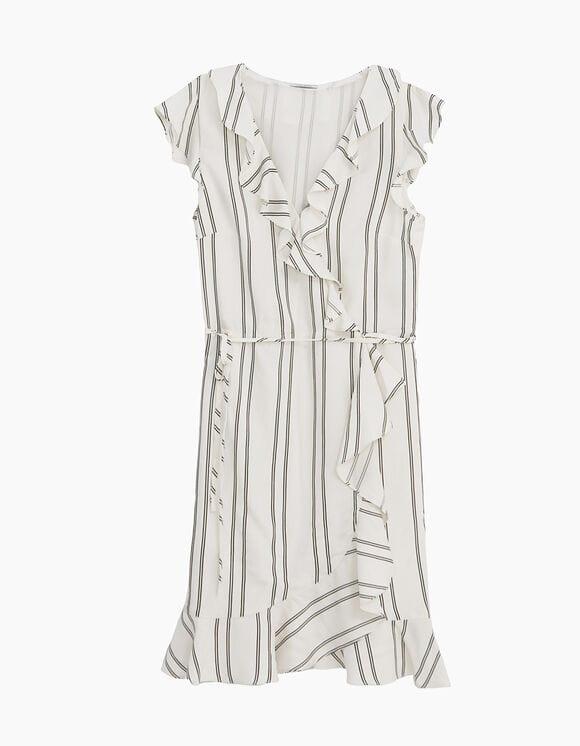 Robe à rayures Blanc Cassé IKKS pour Femme