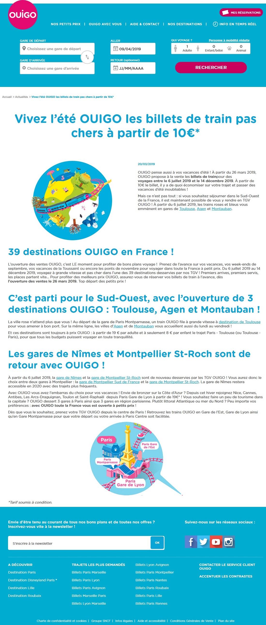 SNCF Low-cost OUIGO, Sncf Billet Tgv OUIGO à Partir 10,00 Euros