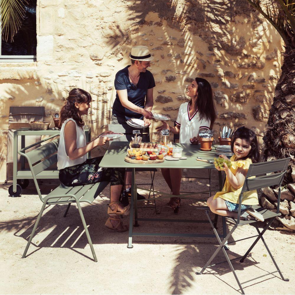 Table pliante Fermob Cargo acier pas cher - Soldes Table de jardin Gamm Vert