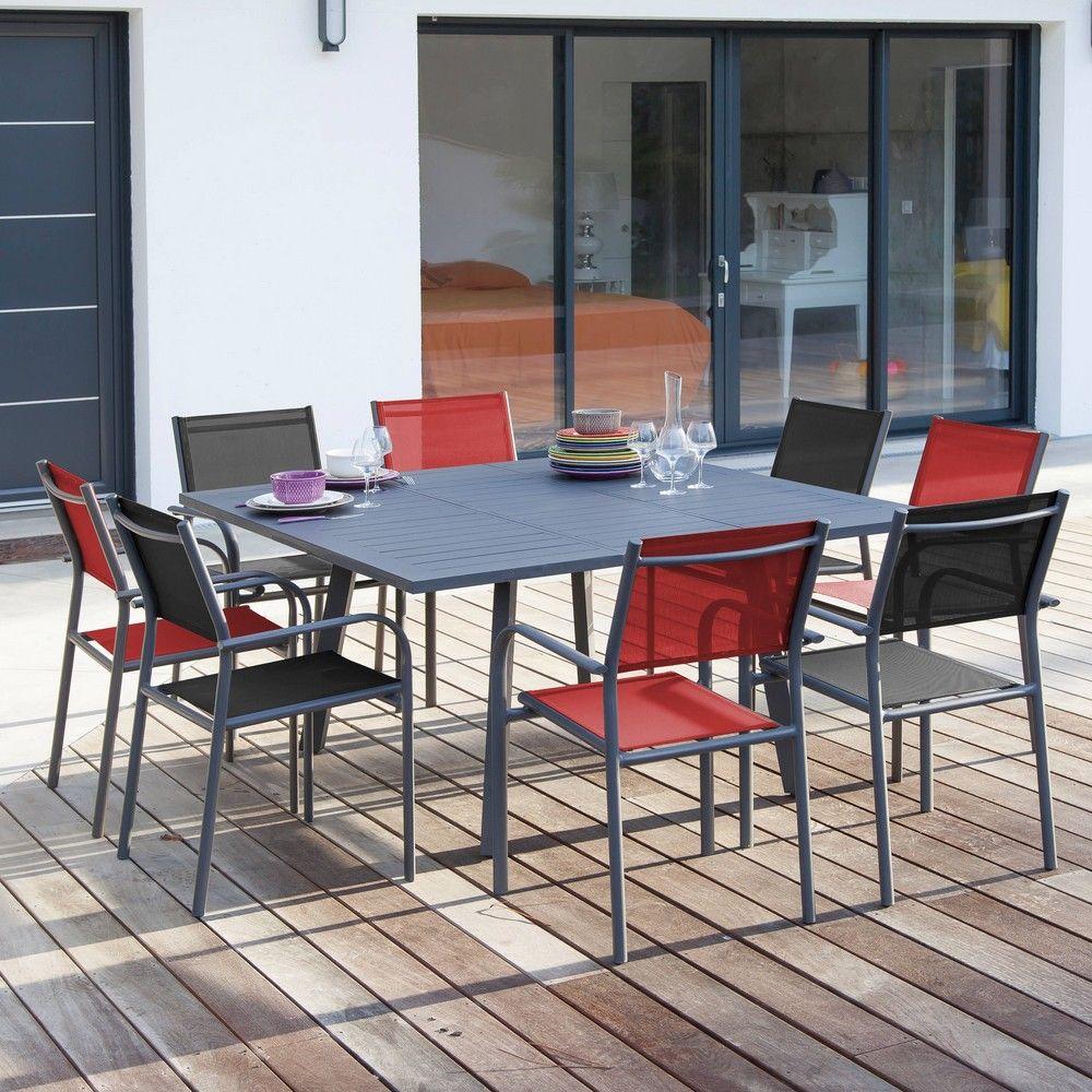 Table de jardin Barcelona aluminium gris pas cher - Soldes ...