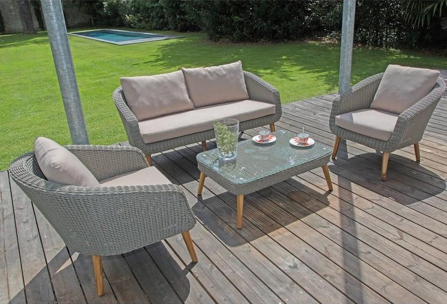 Stunning Table De Jardin Ronde Gamm Vert Images - House Design ...