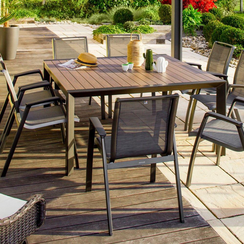 CARREFOUR Table de jardin extensible Louga pas cher - Table de ...