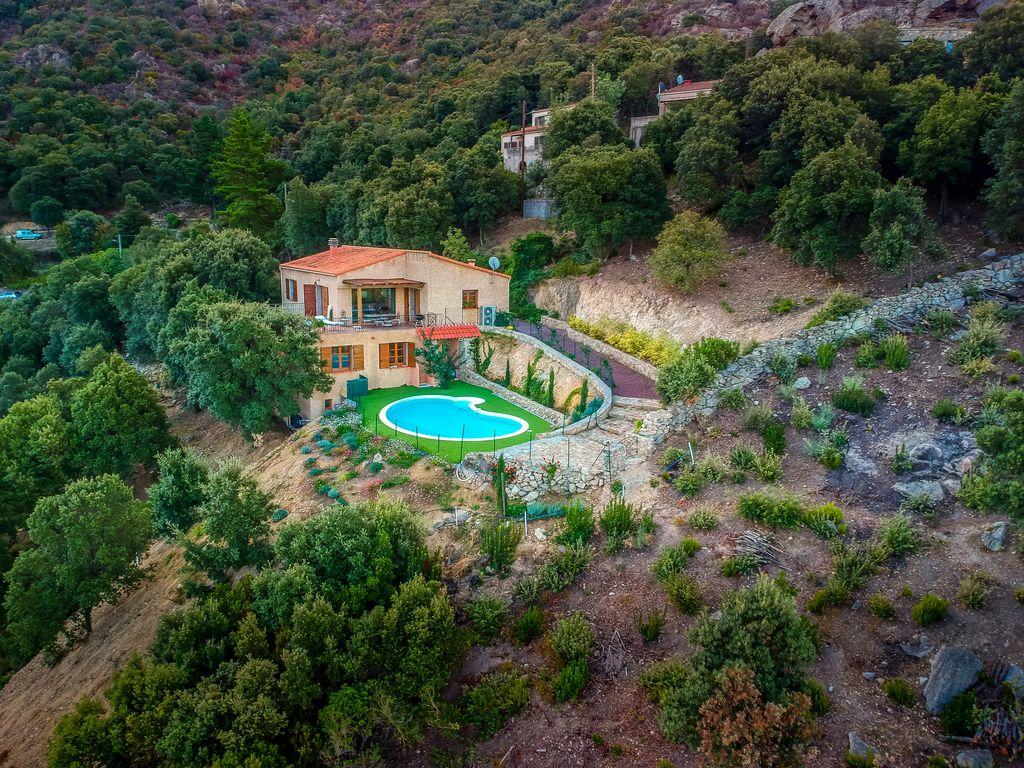 Abritel Location Corse Urtaca - Balagne Villa spacieuse entre mer et montagne avec piscine chauffée
