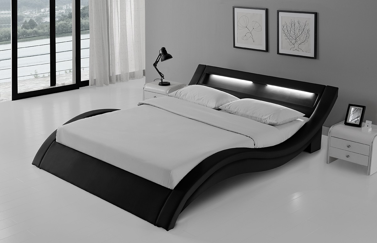 last meubles lit studio loft blanc pas cher soldes lit rue du commerce. Black Bedroom Furniture Sets. Home Design Ideas