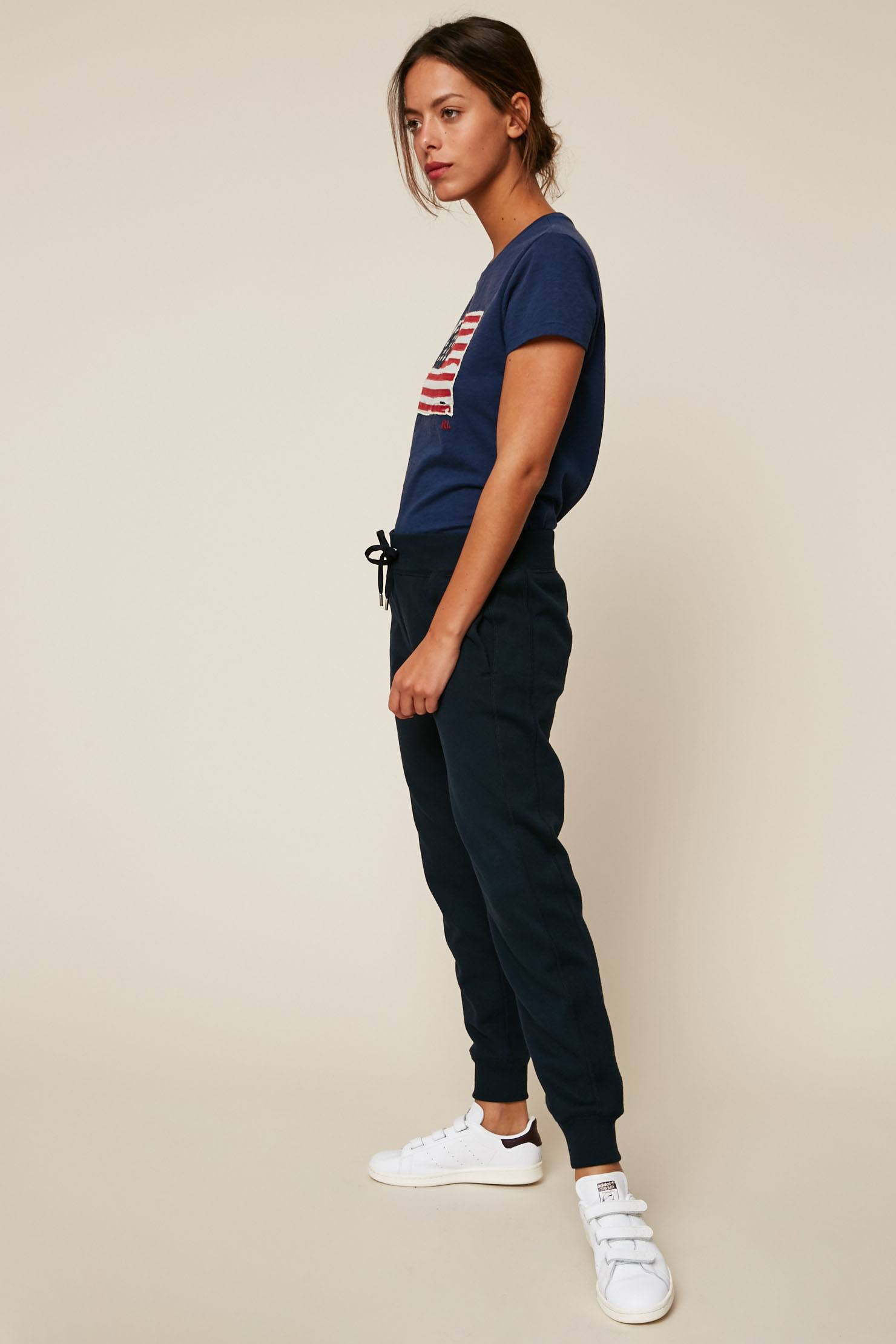 Ralph Pantalon Lauren De Polo Jogging Marine Femme Y76gbfyv