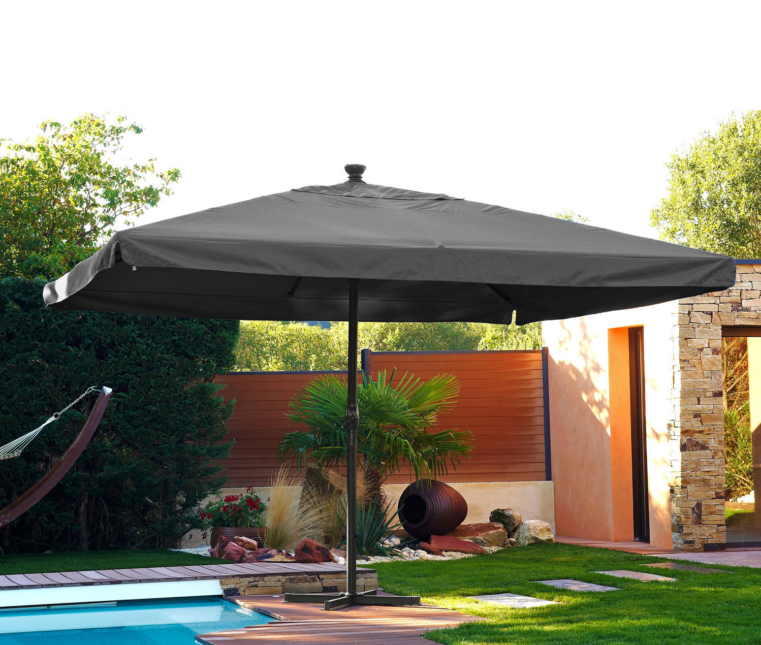 parasol leroy merlin parasol droit dcb garden. Black Bedroom Furniture Sets. Home Design Ideas