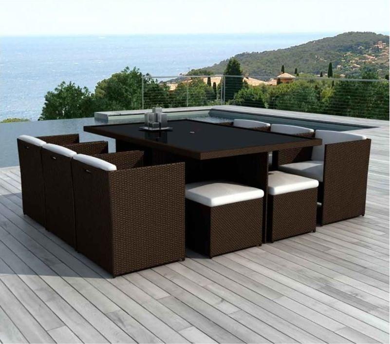 paris prix salon de jardin palm beach en r sine 8 places. Black Bedroom Furniture Sets. Home Design Ideas