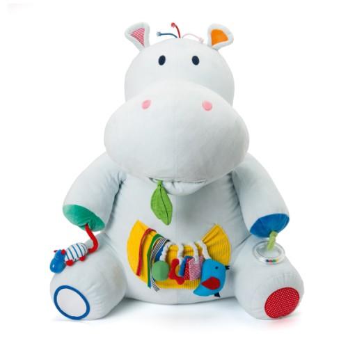 Peluche géante d'activités Axel l'hippopotame Sensibul Oxybul