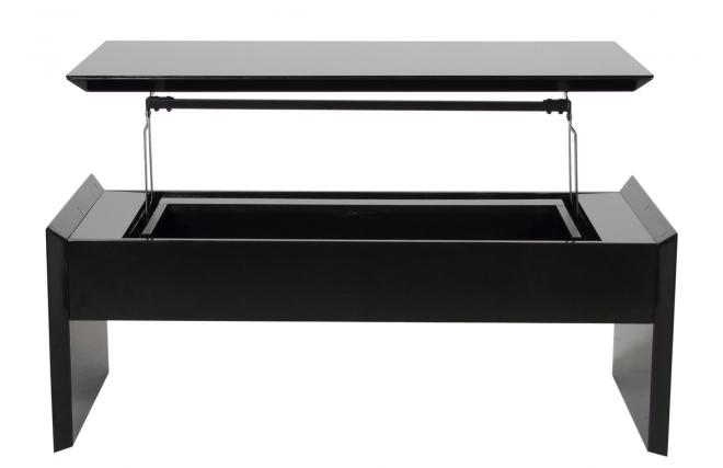 Noire Basse Design Laeti Relevable Table Brillant vN8nmwy0O
