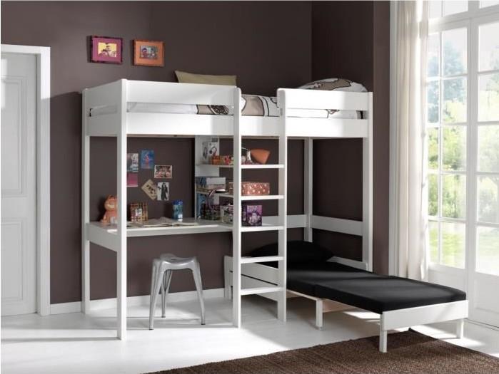 lit mezzanine 90x200 cm montana lit enfant conforama. Black Bedroom Furniture Sets. Home Design Ideas