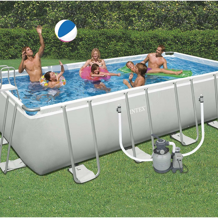 Piscine hors sol autoportante tubulaire ultra silver intex for Piscine tubulaire leroy merlin