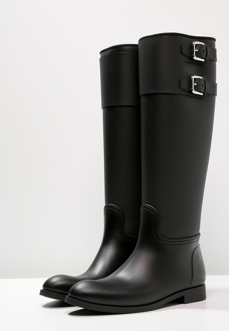 polo ralph lauren cairo bottes en caoutchouc black bottes de pluie femme zalando. Black Bedroom Furniture Sets. Home Design Ideas