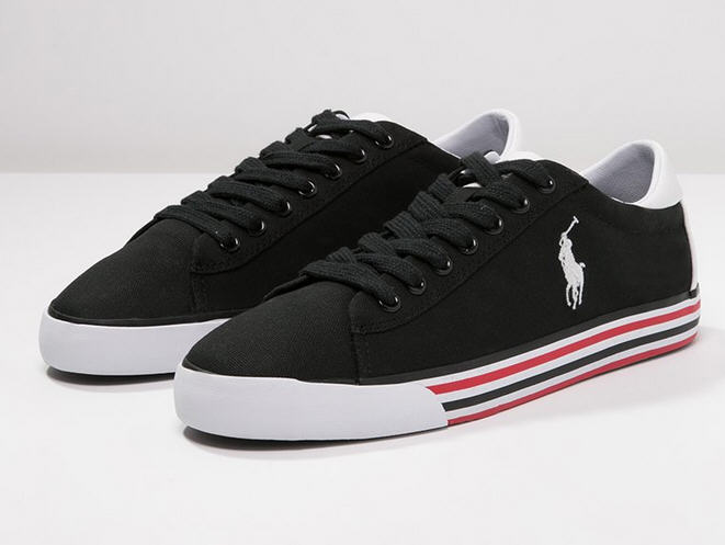 1b99892173b343 Polo Ralph Lauren HARVEY Baskets basses black pure white - Baskets Homme  zalando