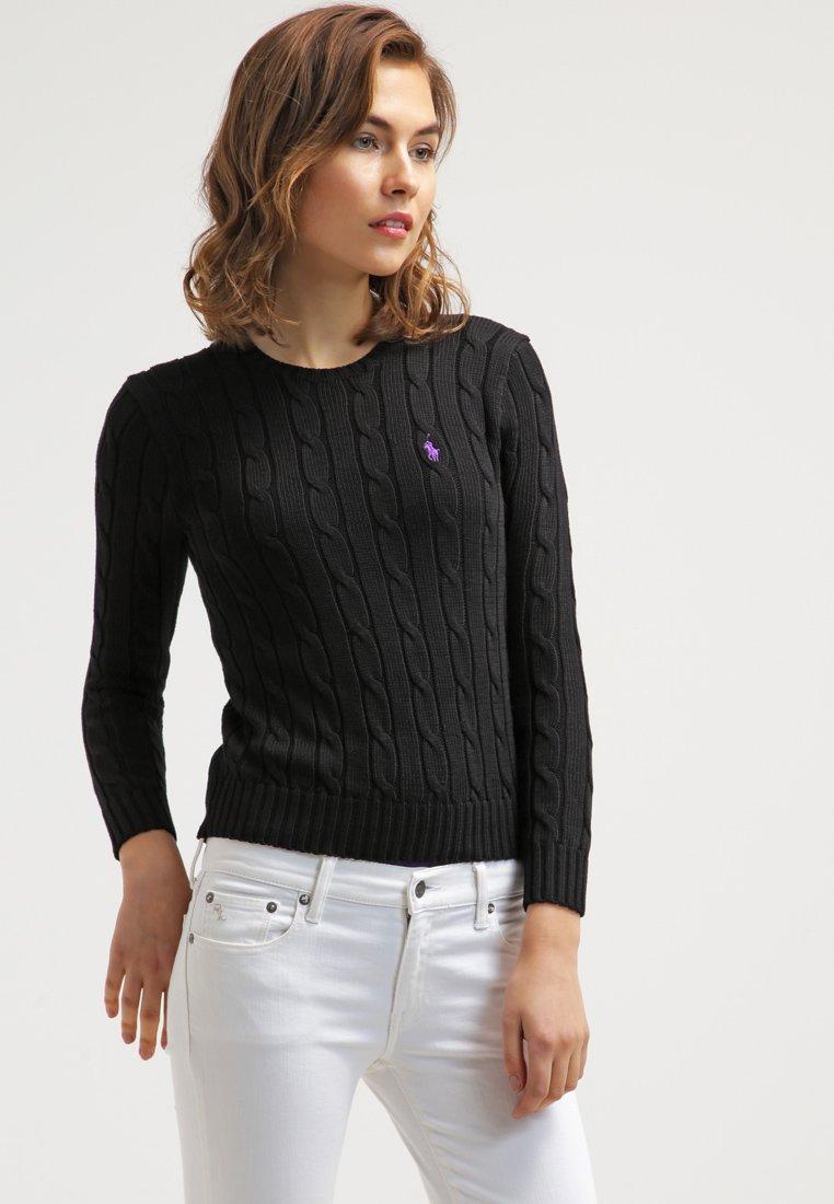 7682b1e51010f3 Polo Ralph Lauren JULIANNA Pullover polo black - Pull Femme Zalando ...