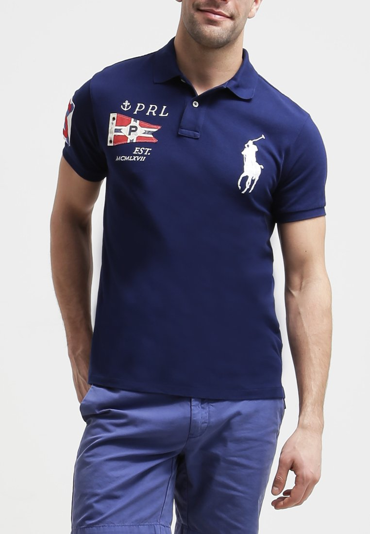 Polo Ralph Lauren SLIM FIT Polo holiday navy - Polo Homme Zalando  (Mode)   Zalando Polo Ralph Lauren SLIM FIT Polo holiday navy Polo Ralph Lauren SLIM  FIT ... 37e72fbe2aa