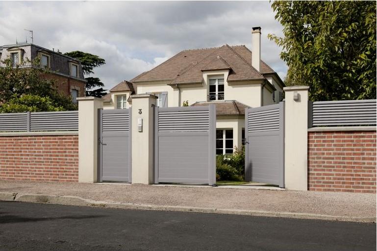 Portail Aluminium Coulissant Droit Cl07 350 X 180 Cm Pas