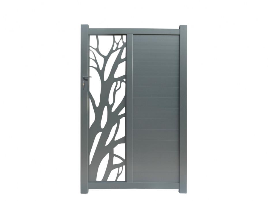 Portillon battant LURZO en aluminium à motifs - Vente Unique