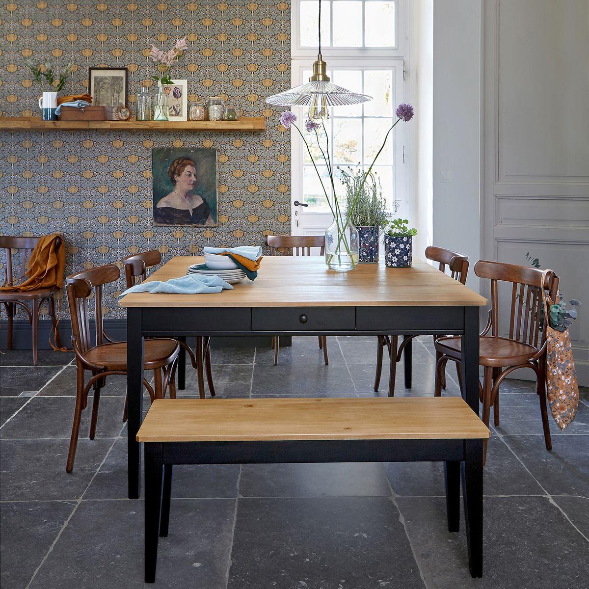 Table à Manger Alvina Noir 8 Couverts Table La Redoute
